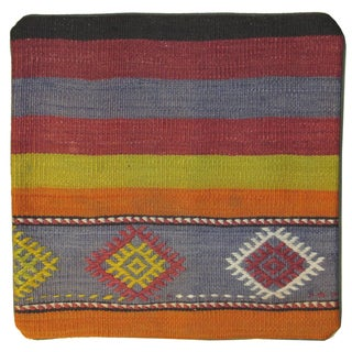 Vintage Turkish Kilim Pillowcase