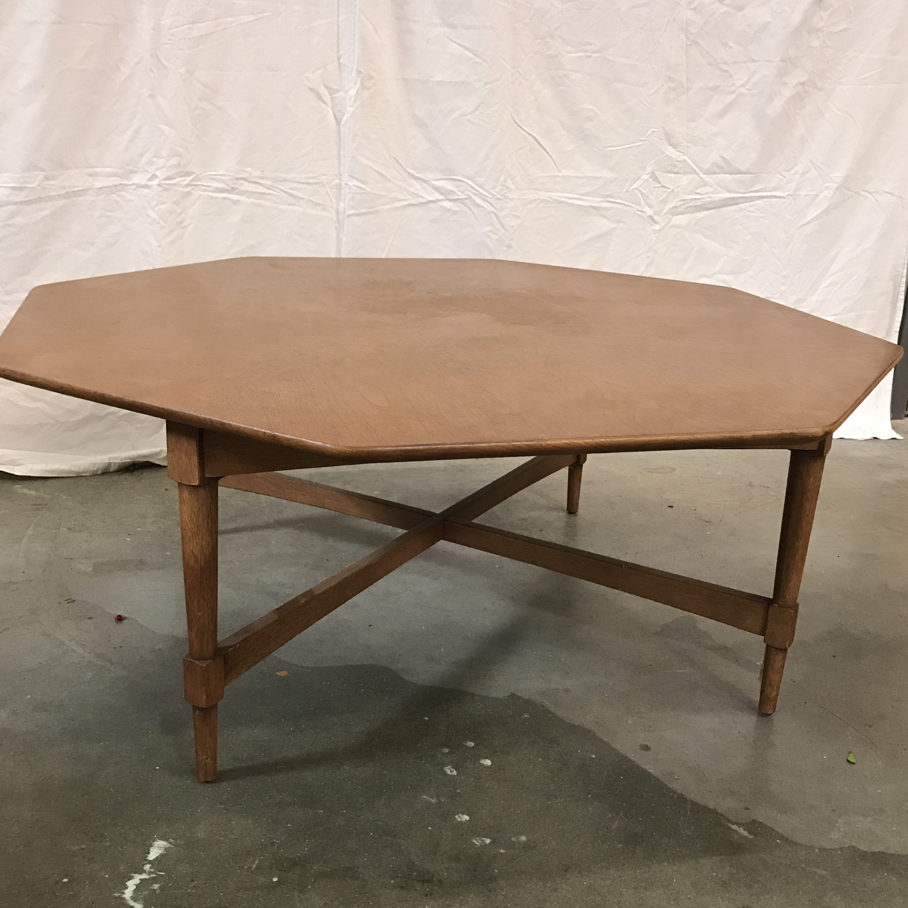 midcentury octagon coffee table image 5 of 7