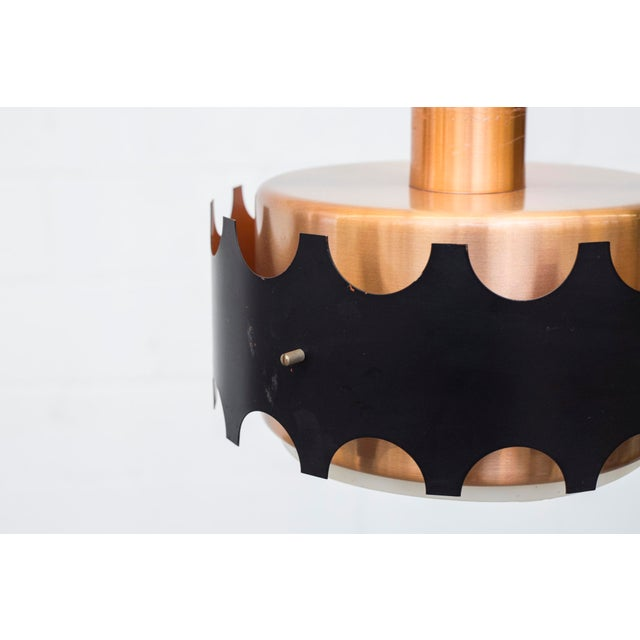 Image of Hoogersvort Attributed Copper and Black Cylinder Pendant