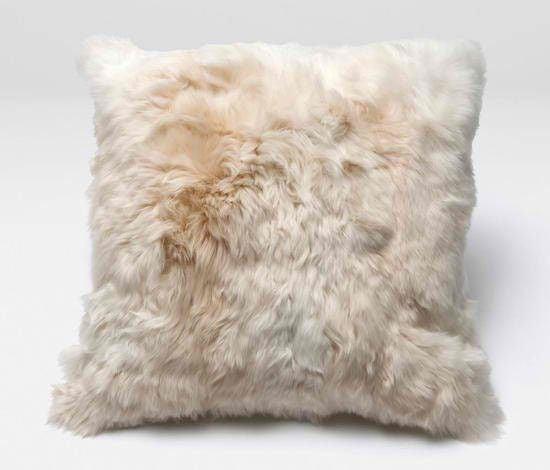 Alpaca Fur Throw Pillow Chairish