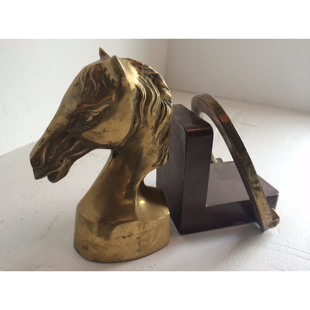 Equestrian Horseshoe Brass Bookends - 2 - Image 3 of 6