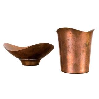 Ernst Dragsted Modernist Copper Vessels - A Pair