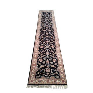 Traditional 12 Ft. Wool Handmade Knotted Runner Rug - 2'7'' X 12'7''