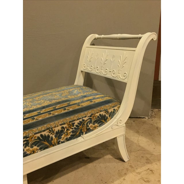 Antique 1920s White Directoire Style Chaise Lounge - Image 5 of 11