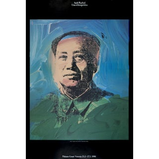 1990 Mao Poster by Andy Warhol