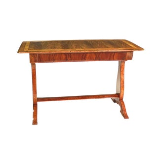 Biedermeier Walnut Inlaid Writing Table