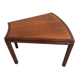 Mid-Century Teak Trapezoid Occasional Table