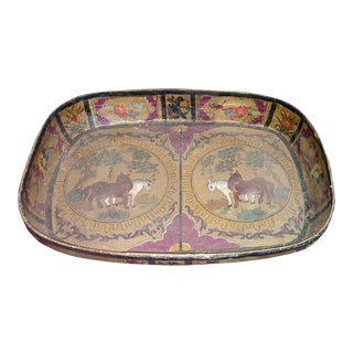 Chinese Pink & Gold Tray