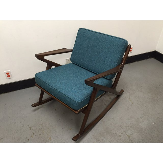"Mid-Century Custom "" Z "" Rocking Chair - Image 2 of 5"