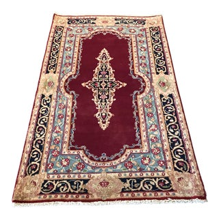 "Old Persian Kerman Rug 2'9"" X 5'"