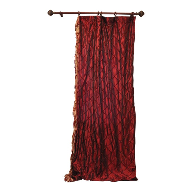 Victorian Style Drapes in Burgundy - A Pair - Image 1 of 10