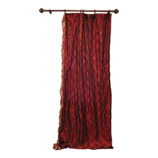 Victorian Style Drapes in Burgundy - A Pair