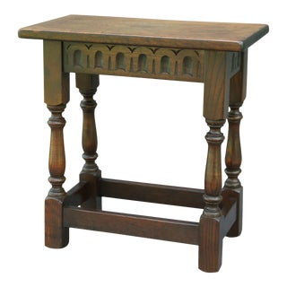 Early 20th Century English Oak Joint Stool