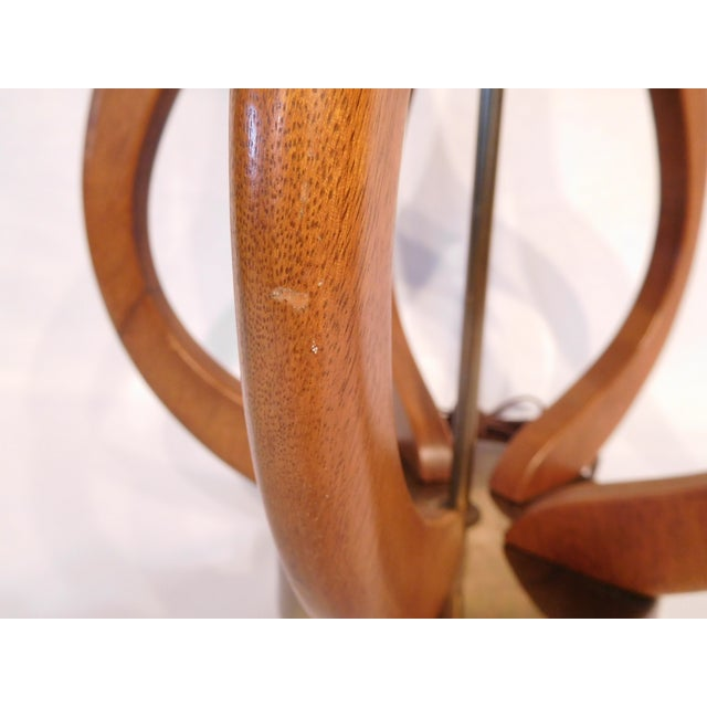 Image of Vintage Danish Teak Wood Oversized Lamp