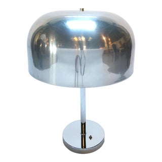 Pair of 1970s Lightolier Aluminum Table Lamps