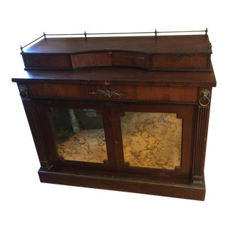 Art Deco Wooden Buffet With Brass Lion Buffet