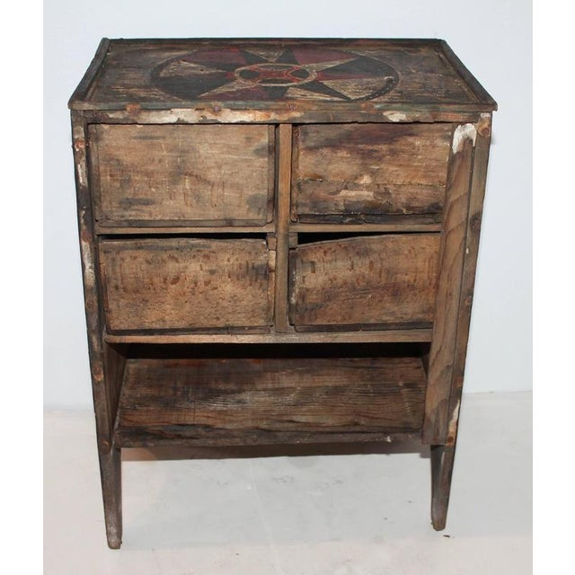 19th Century Original Paint Decorated Tabletop Apothecary Cabinet - Image 8 of 8