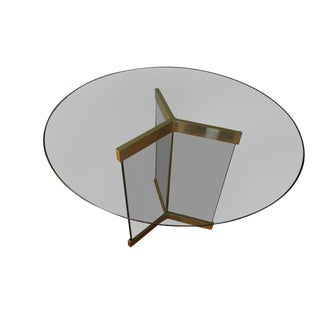 Leon Rosen Pace Collection Brass and Glass Table