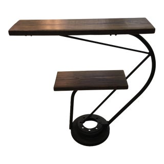 Industrial Reclaimed Wood Disc Table