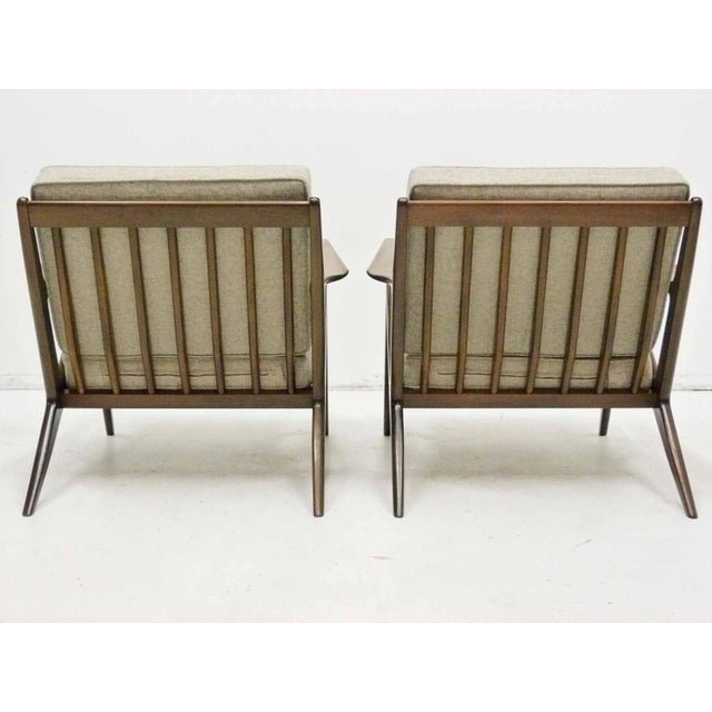 Poul jensen for selig z lounge chairs pair chairish - Selig z chair for sale ...