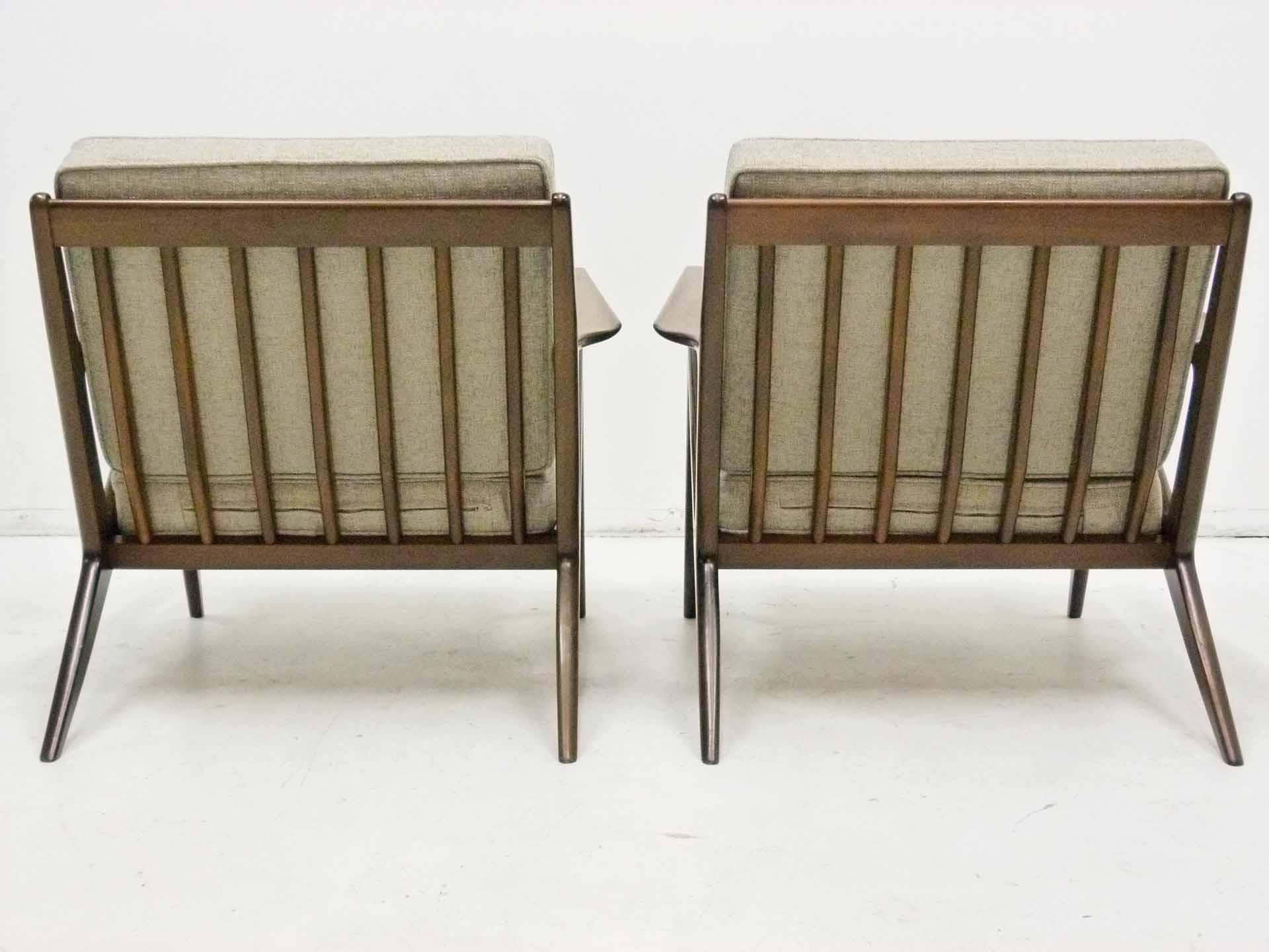 Poul Jensen For Selig Quot Z Quot Lounge Chairs Pair Chairish