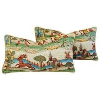 Designer Brunschwig & Fils Medieval Pillows - Pair