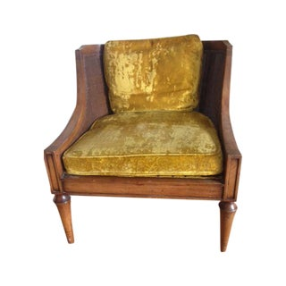 Mid-Century Cane Back Lounge Chair