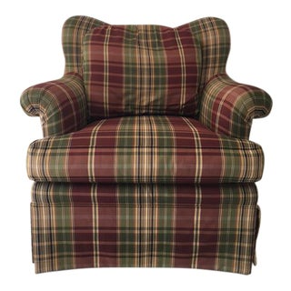 Sherrill Plaid Accent Chair