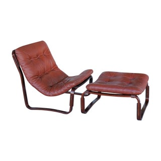 Westnofa Rosewood Chair & Ottoman