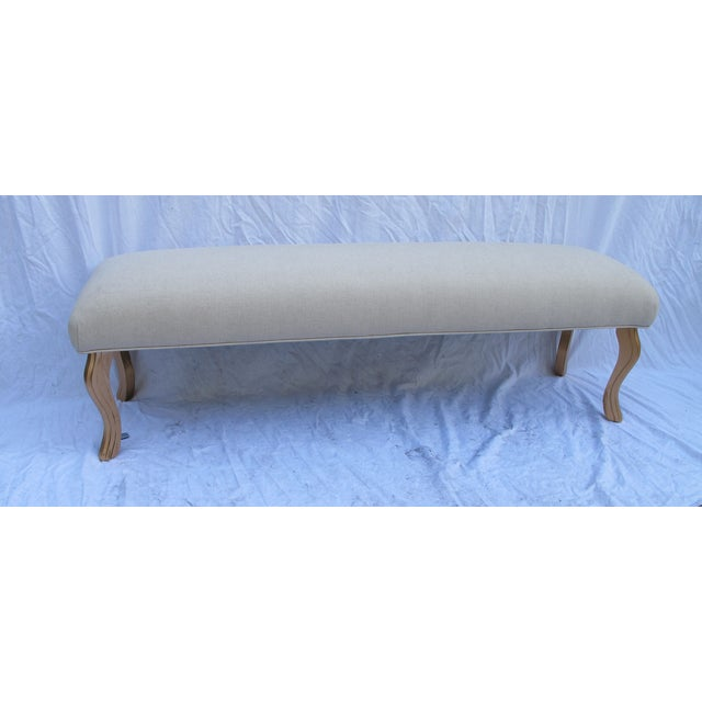 Vintage 1960s Water Fall Legs Gold Leaf Bench - Image 6 of 6