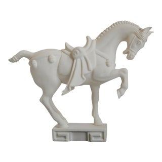Chinese War Horse on Greek Key Base
