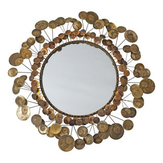 C.Jere Brass Clouds Raindrops Mirror