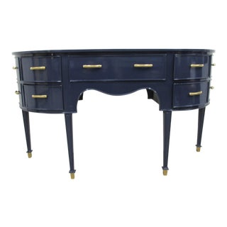 Old Navy Navy Blue Lacquered Mahogany Sideboard