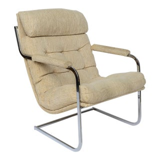 Milo Baughman Style Cantilever Lounge Chair 1960s