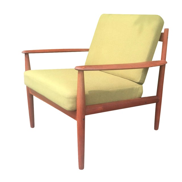 Grete Jalk Chartreuse Lounge Chair - Image 1 of 11