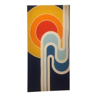 Mid-Century Colorful Pop Art Fabric