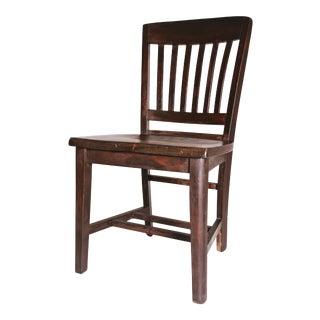 Vintage Industrial Wood Banker's Office Chair