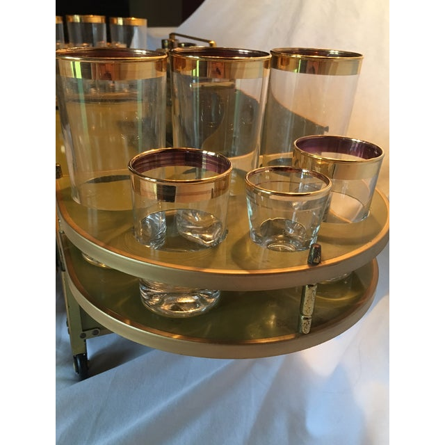 Mid-Century Modern Tabletop Bar & Glassware - Image 10 of 11