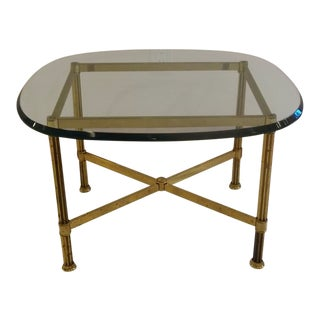 Brass & Glass Top Side Table