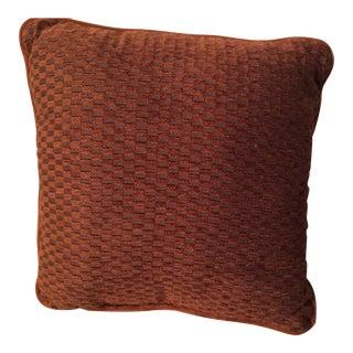 Terra Cotta Velvet Pillow
