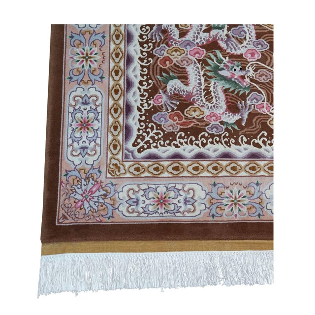 """Hand Knotted Wool Oriental Dragon Rug - 6' x 10'2"""" - Image 1 of 8"""