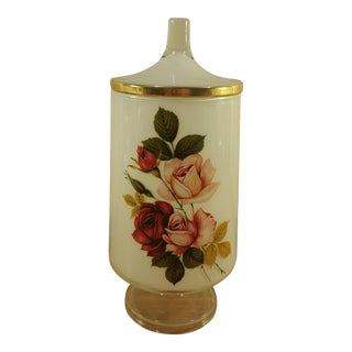 Vintage Floral Lidded Container