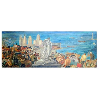 Queen City of the Lakes mural study, Painting, WPA