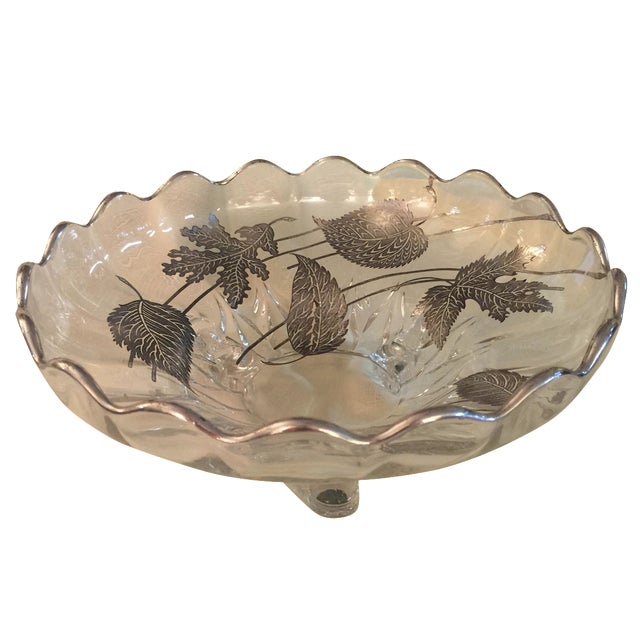 Sterling Silver Overlay Crystal Bowl - Image 1 of 3