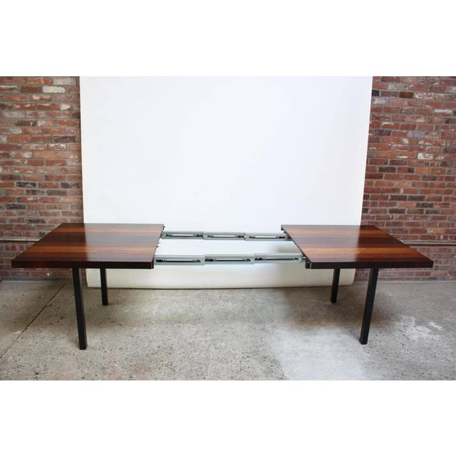 Milo Baughman Mixed Wood Dining Table For Directional - Image 8 of 11