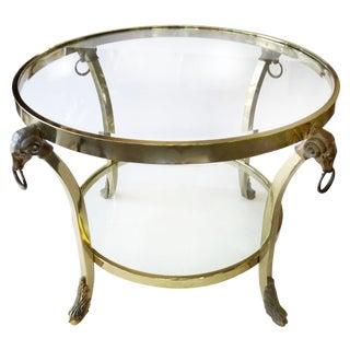 Brass Gueridon Rams Head Table