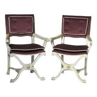 Modern Regency Grosfeld House Style Armchairs - A Pair