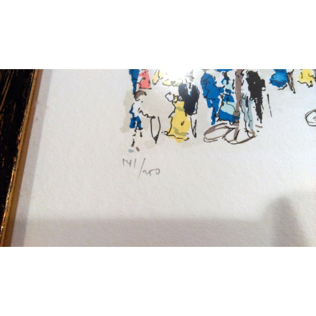 "Urbain Hutchet ""Paris, Palais Royal Ii"" Lithograph - Image 3 of 7"