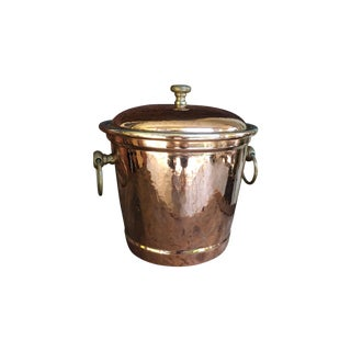 Ruffoni Hammered Copper Ice Bucket with Lid