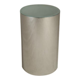 A Large Curtis Jere Polished Metal and Arcylic Lightbox Pedestal, 1970s